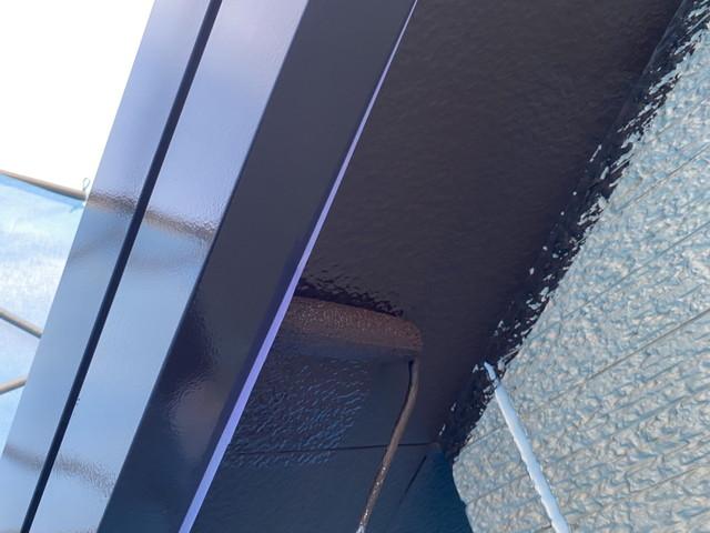 鋼製破風・軒天井塗装2回目