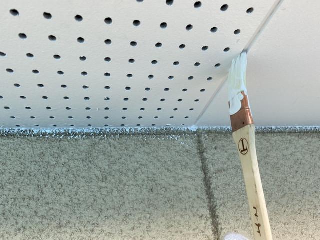 付帯部塗装 軒天井