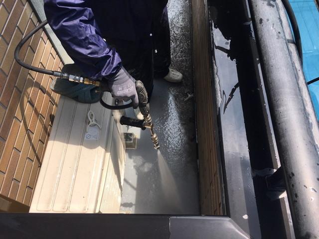 高圧洗浄 ベランダ防水