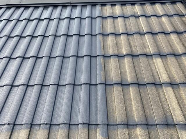 セメント瓦 屋根塗装 中塗り