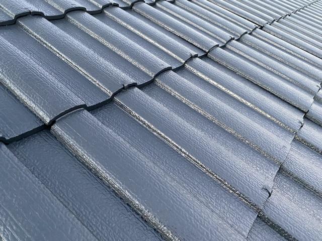 セメント瓦 屋根塗装 完成