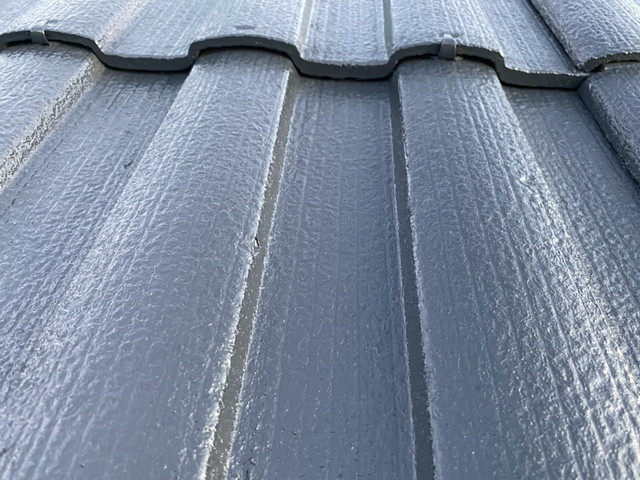 セメント瓦 屋根塗装 上塗り