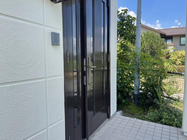 玄関ドア塗装後
