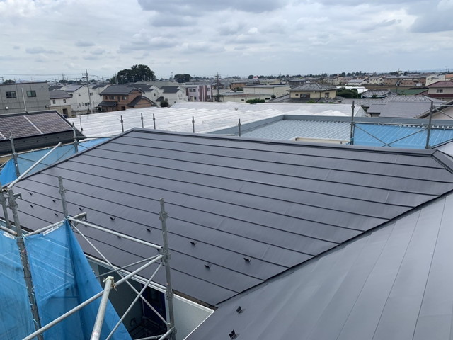 屋根カバー工法工事後